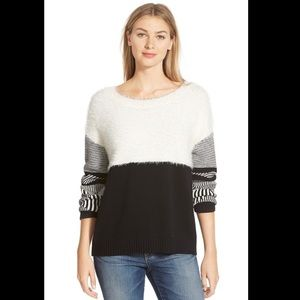 Two by Vince Camuto Jacquard Crewneck Sweater